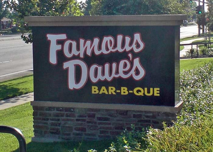 1. Famous Dave's Street Sign