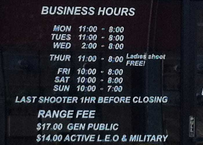 Riverside Magnum Range Hours and Pricing