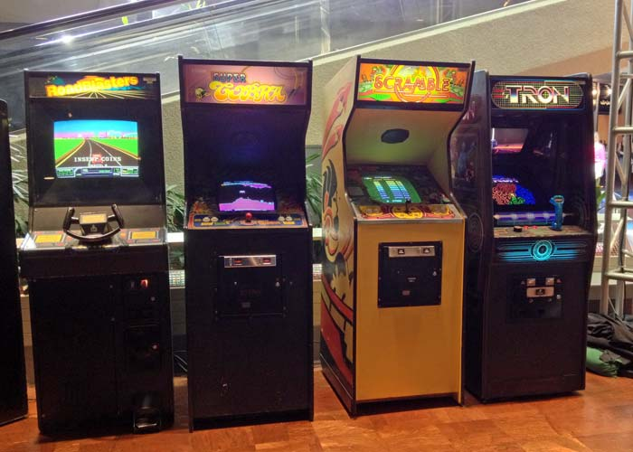 RoadBlasters, Super Cobra, Scramble and Tron at the Starcade in Disneyland