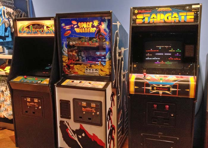 Galaxian, Space Invaders and Stargate at the Starcade in Disneyland