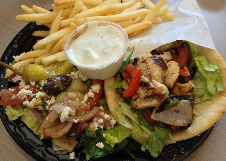 Greek Street Grill - Chicken Pita Sandwich