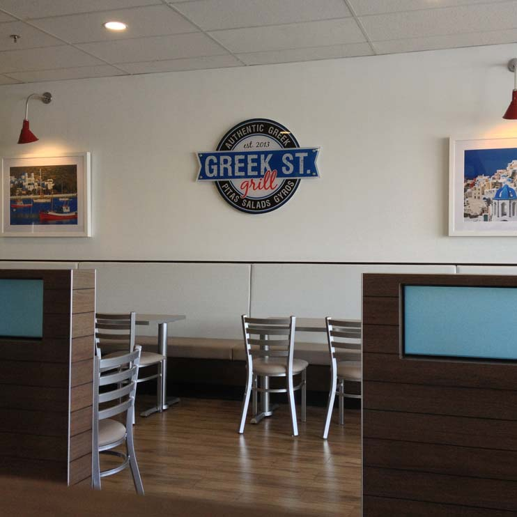 Greek Street Grill - Inside