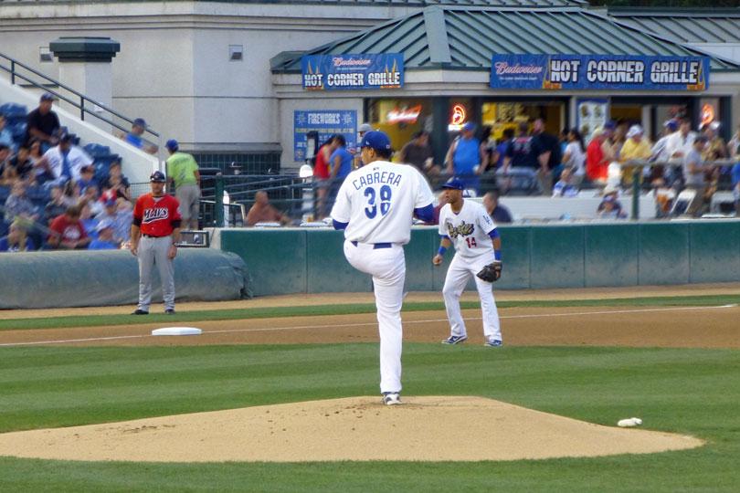 Freddie Cabrera on the mound