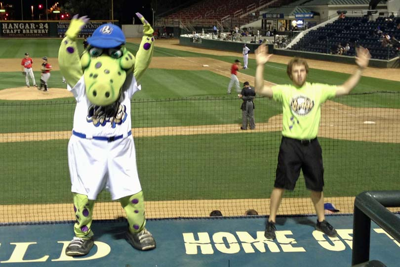 Tremor, the Rallysaurus, and a friend dancing to YMCA - 08/27/13