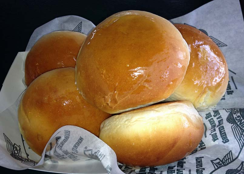 Wingstop fresh baked rolls