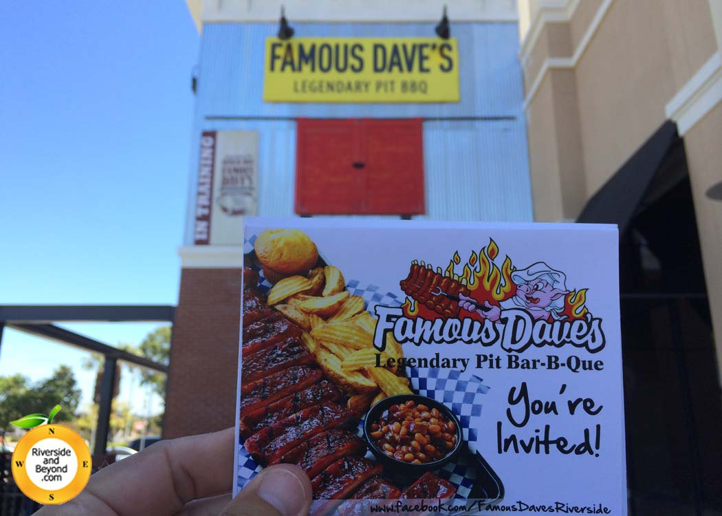 Famous Dave's Riverside Invitation
