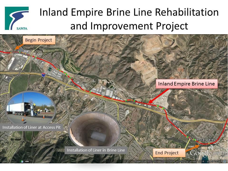 Brine Line pipes - Dos Lagos