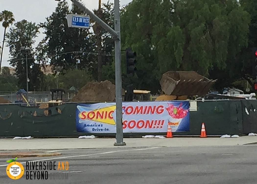 Sonic Drive-In: Coming to Riverside at Magnolia / Van Buren