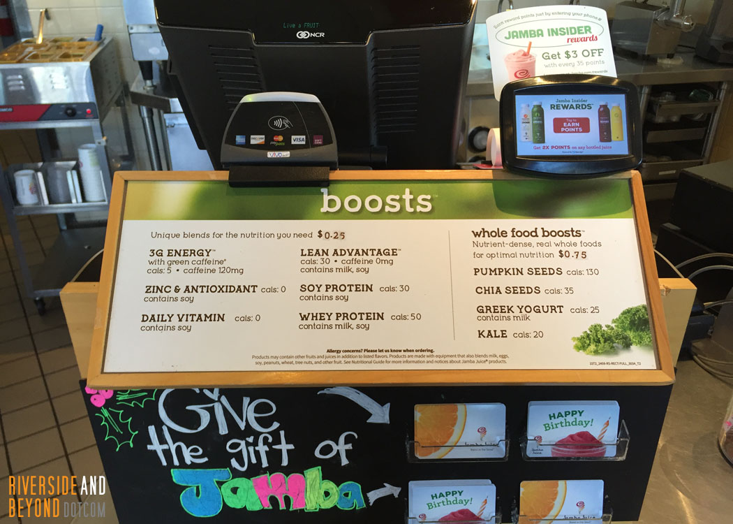 Jamba Juice Boosts