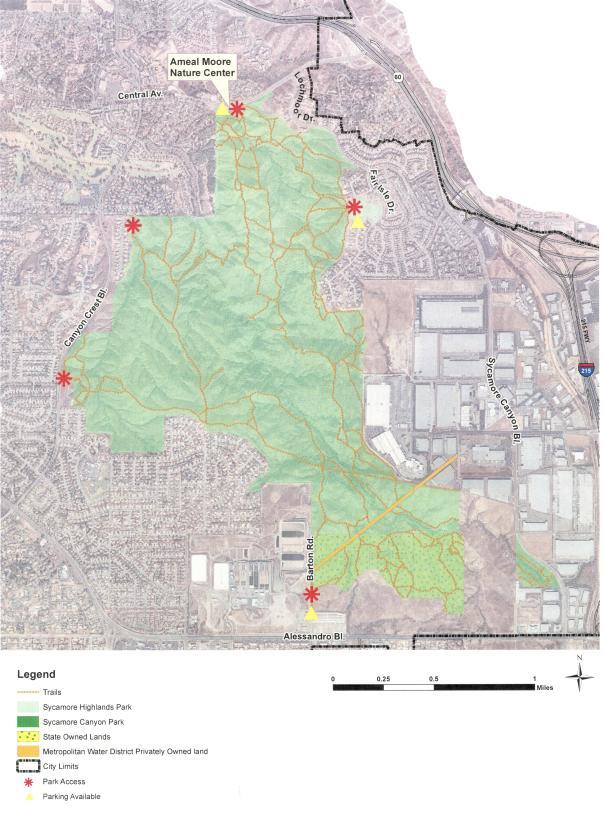 Sycamore Canyon Map