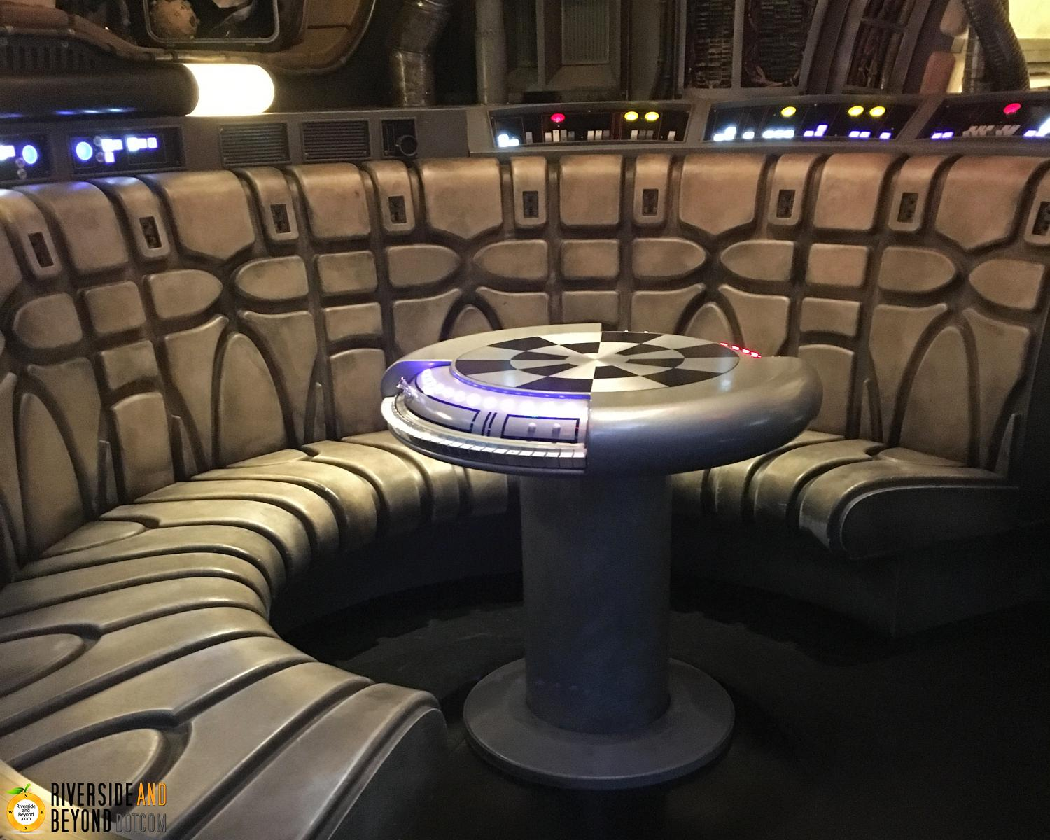 The Millennium Falcon in Star Wars land at Disneyland.